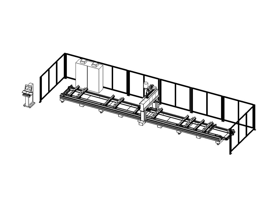 SCM-500 Seksiyonel Kapı Paneli İşleme ve Kesim Merkezi (Yeni model)